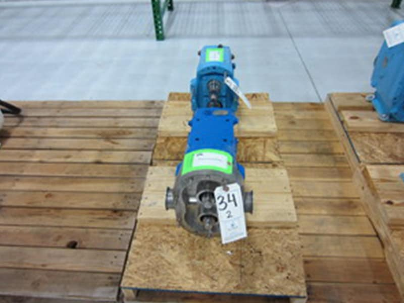 Waukesha Positive Displacement Pump Head comes w/ 2-1/2″ Clamp Type S/S Head (NOTE: Missing Rotors and Cover Assembly), Model: 60, Serial Number: 21290SS