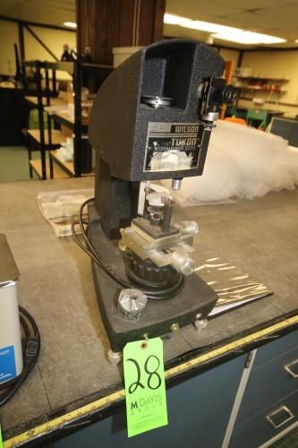 Wilson/Tukon Micro-Hardness Tester, with Attached Vise