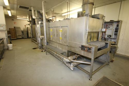 "Alvey S/S Washing System, M/N CONVEYOR, S/N 3077.2, 480 Volts, 3 Phase, with Centrifugal Pumps, Overall Dims.: Aprox. 30' L x 6'5"" W x 9-1/2' High, with 32"" Wide Belt"