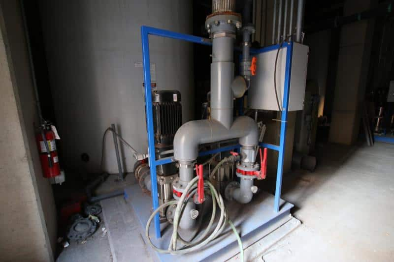 Siemens Water Recirculation Skid, Equipped with (3) Pumps & Process Control Panel