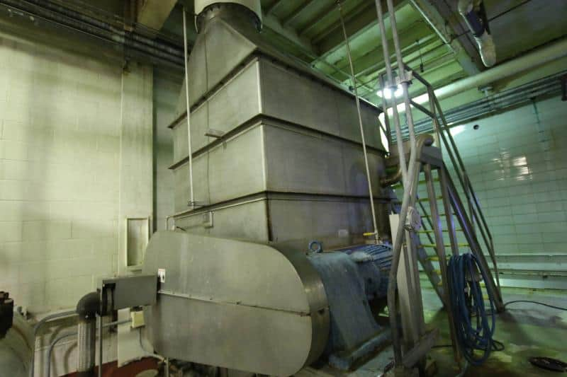 1991 L&A Engineering Co Single Screw Concentrate Evaporator / Condenser, S/N 10296, T 304