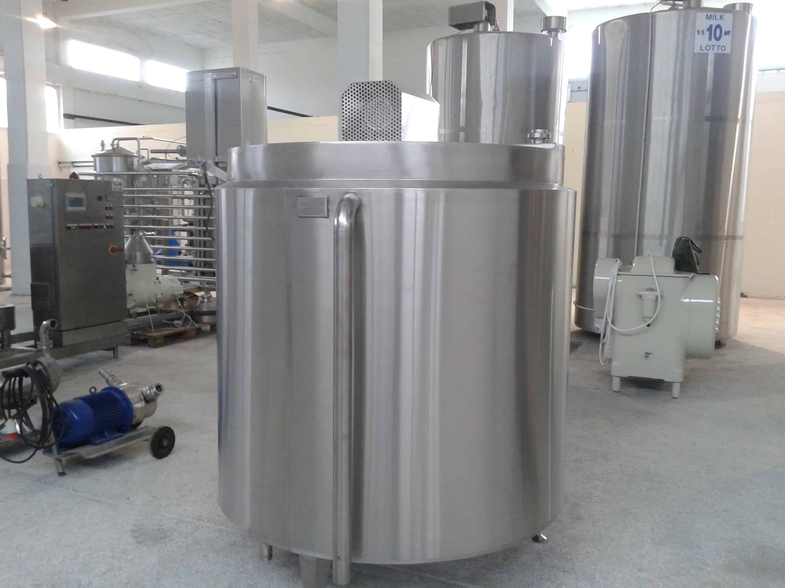 NEW 2,200 Liter S/S Processor / Batch Pasteurizer, Equipped with Top-Mount Agitation, Variable Speed Control, & Hinged-Lid