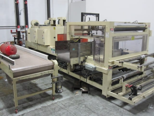 "Arpac Shrink Bundler, Model # 1058-50, S/N 2799, right angle infeed with 50"" wide film capability / AB PLC(Located in South Carolina) ***NSP***"
