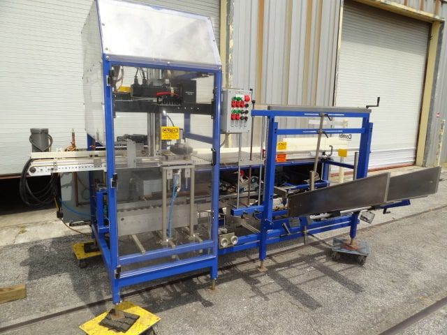 "Combi Case Erector / Packer / Sealer System, Model # SPP, S/N 110146694, case erector / servo-driven pouch-packer / flap taper with 2"" 3M applicator(Located in South Carolina) ***NSP***"