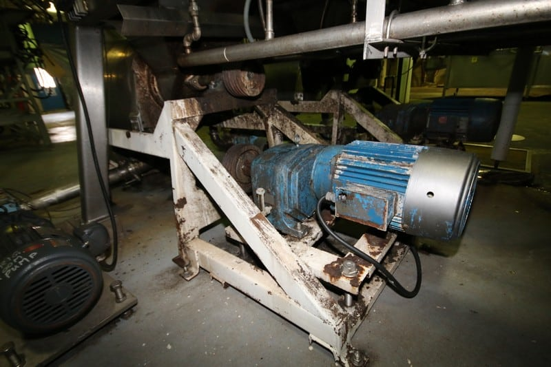 "Langsenkamp 24"" S/S De-Pitter (Pulper), Model A, S/N T316SS, with 20 hp / 1760 RPM Drive Motor, 230/460V 3 Phase, (Note: Internal Screens / Components not Included)"