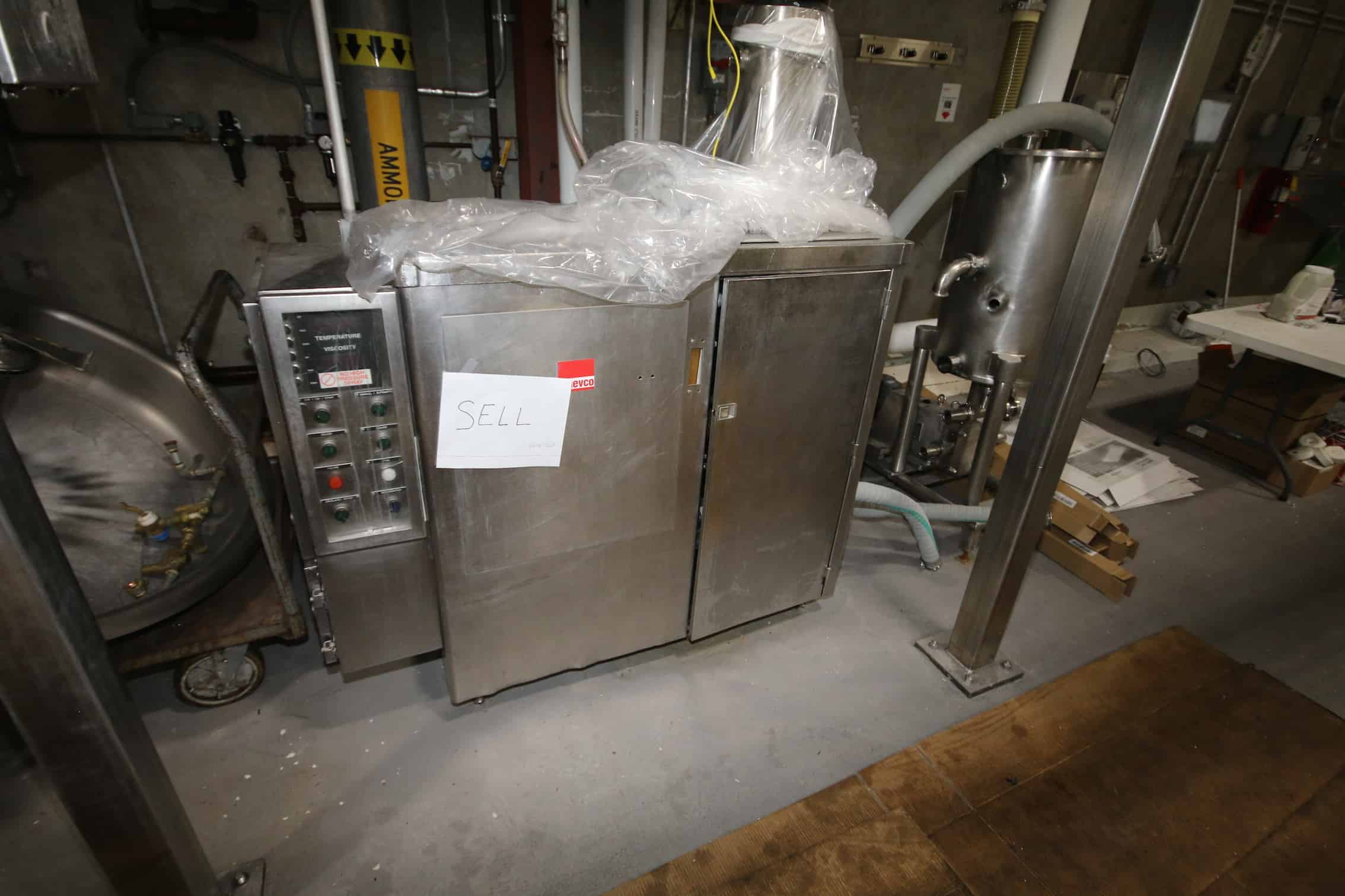 Wilevco S/S Batter Mixer, Series V-70, S/N 57516, 480 Volts, 3 Phase