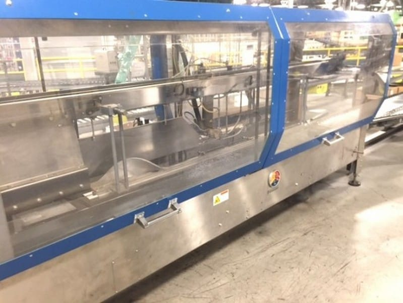 ABC Automatic Top Case Sealer with Nordson Glue Model: 336 Serial: 23318, Last running at distribution plant - little use, Stainless Steel Constuction, Last closing RSC Cases up to 30 cases per minute, Small Footprint, Nordson ProBlue 10 Glue Unit (Located in North Carolina) ***FBEV***