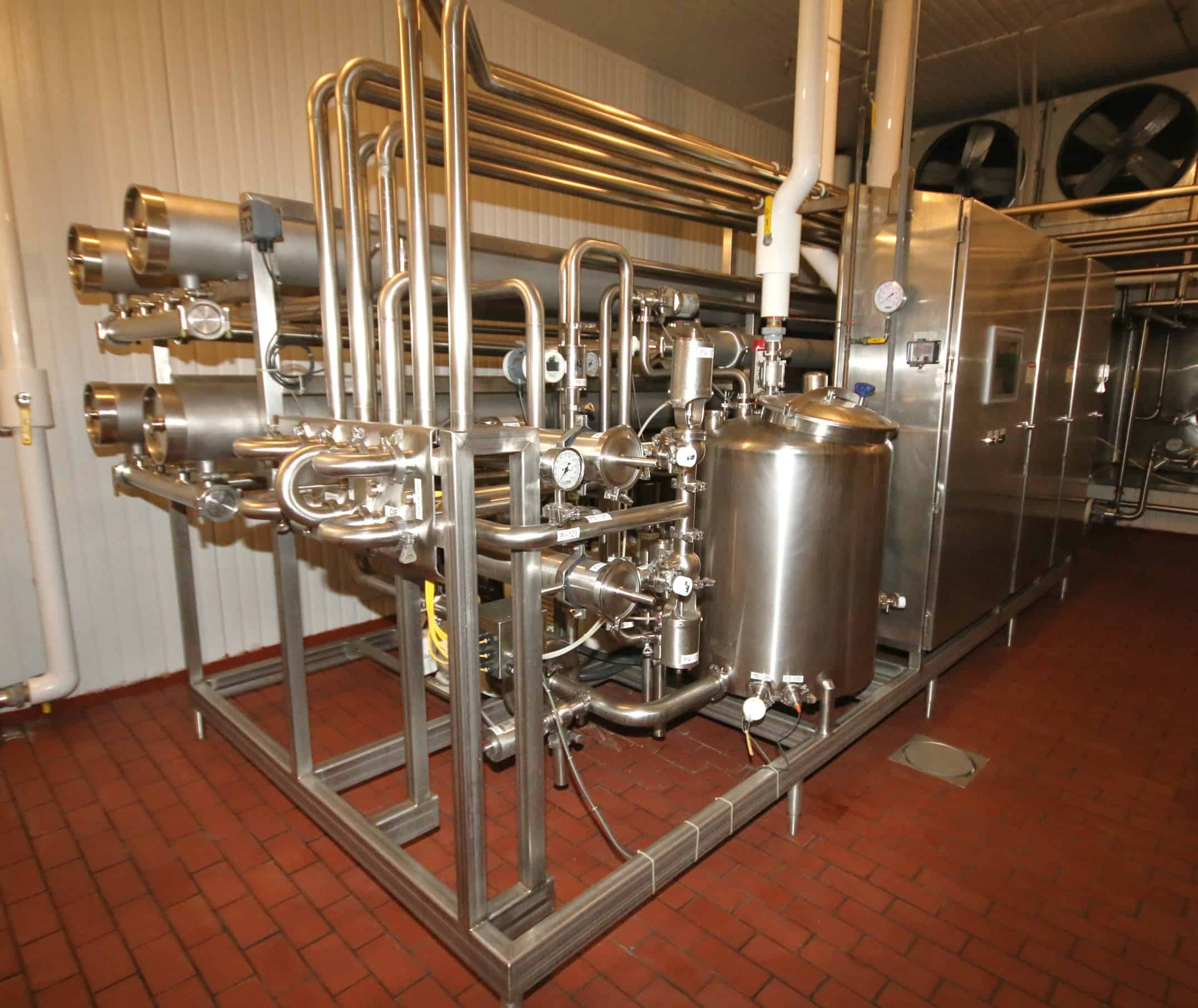 "2010 Complete Filtration Resources (CFR) 4 – Pass S/S RO System, Job # 13715-0002, Complete with (4) 8"" x 18 ft L S/S Tubes, Includes 100 Gal. S/S Tank, (2) S/S Shell & Tube Heat Exchangers, (5) Alfa Laval Centrifugal Pumps up to 40 hp with AB VFD's,"