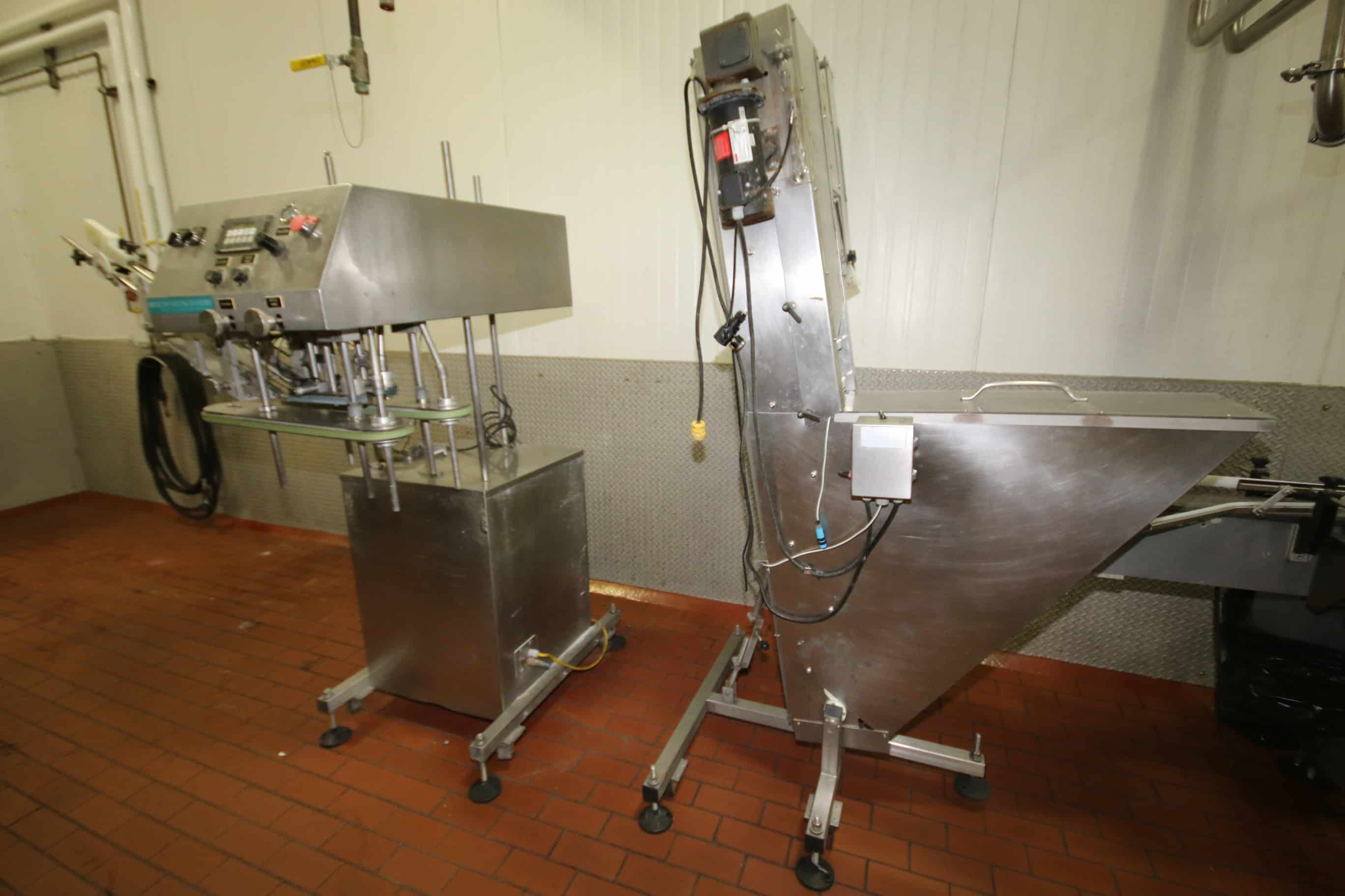 Inline Filling Systems S/S Capper with S/S Inclined Cap Hopper