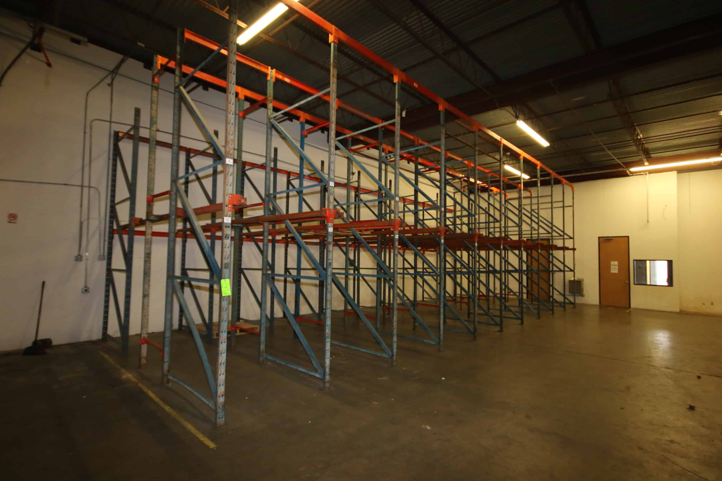 10-Sections of Pallet Racking, with 14' Uprights and Bolted Cross Beams, Overall Dims.:  Aprox. 44' L x 16' W, 68 Pallet Spaces