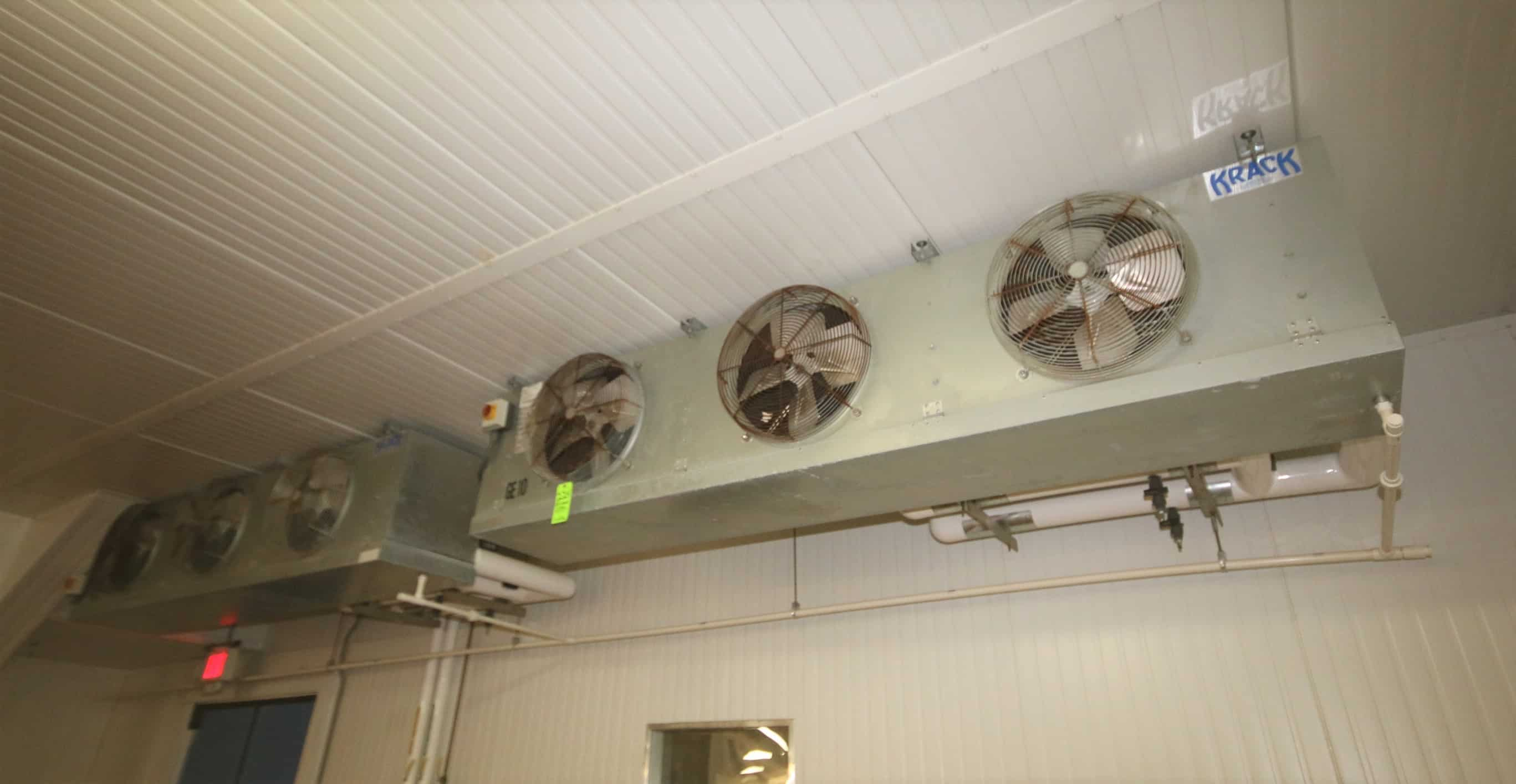 2010 Krack 3-Fan Evaporator/Blowers, Model MS36B-806-CM-D-ST-ST-ST-ST-1