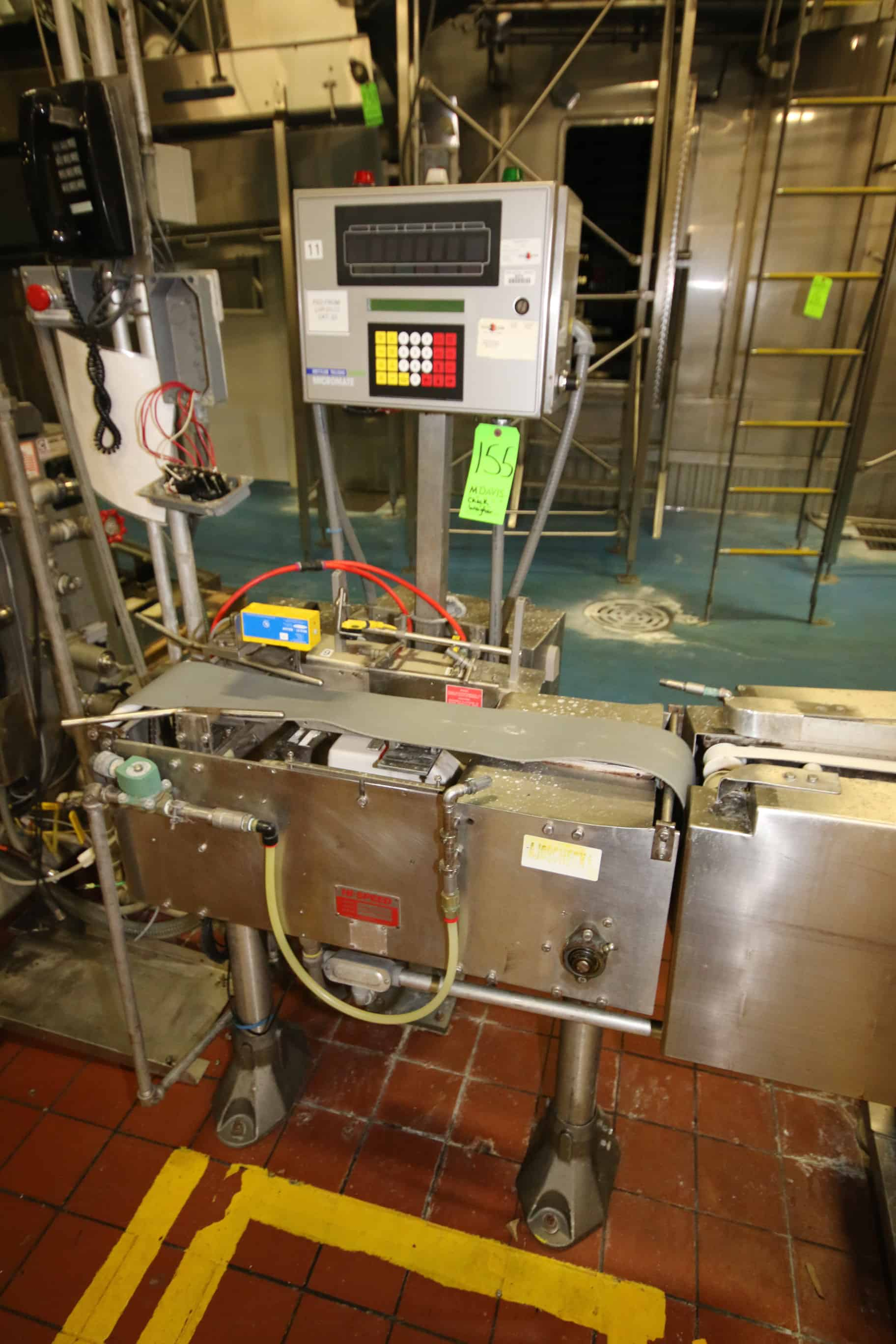 "2009  All S/S Ishida Checkweigher, Model DACS-HN-012-SB/CR-1, S/N  75794 with ~2 ft. L Conveyor with 9"" W Belt"