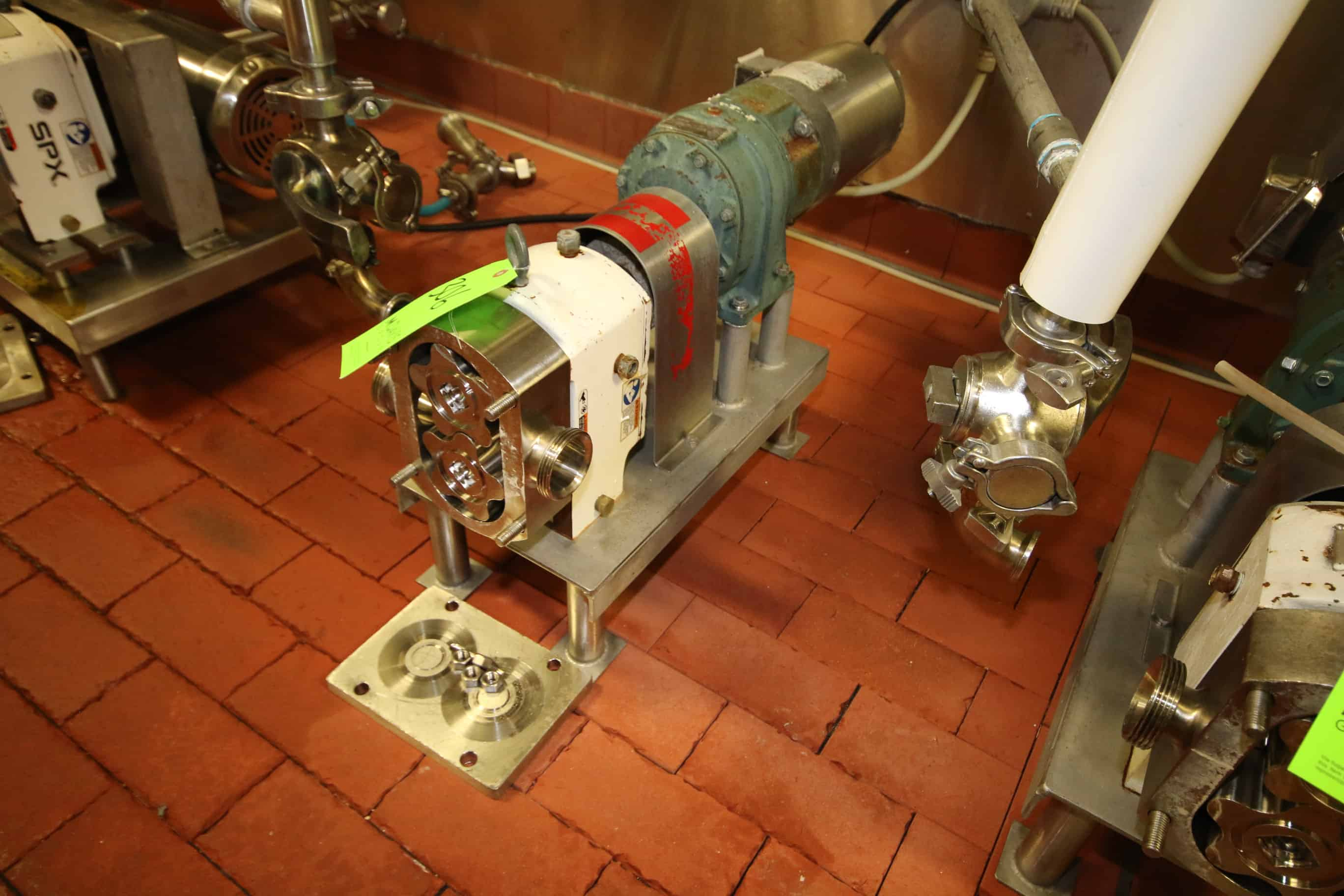 """APV 1 hp Positive Displacement Pump, S/N 2789260 with 2"""" x 2"""" Threaded S/S Head and Baldor 1725 RPM S/S Clad Motor, 230/460 V, 3 Phase"""