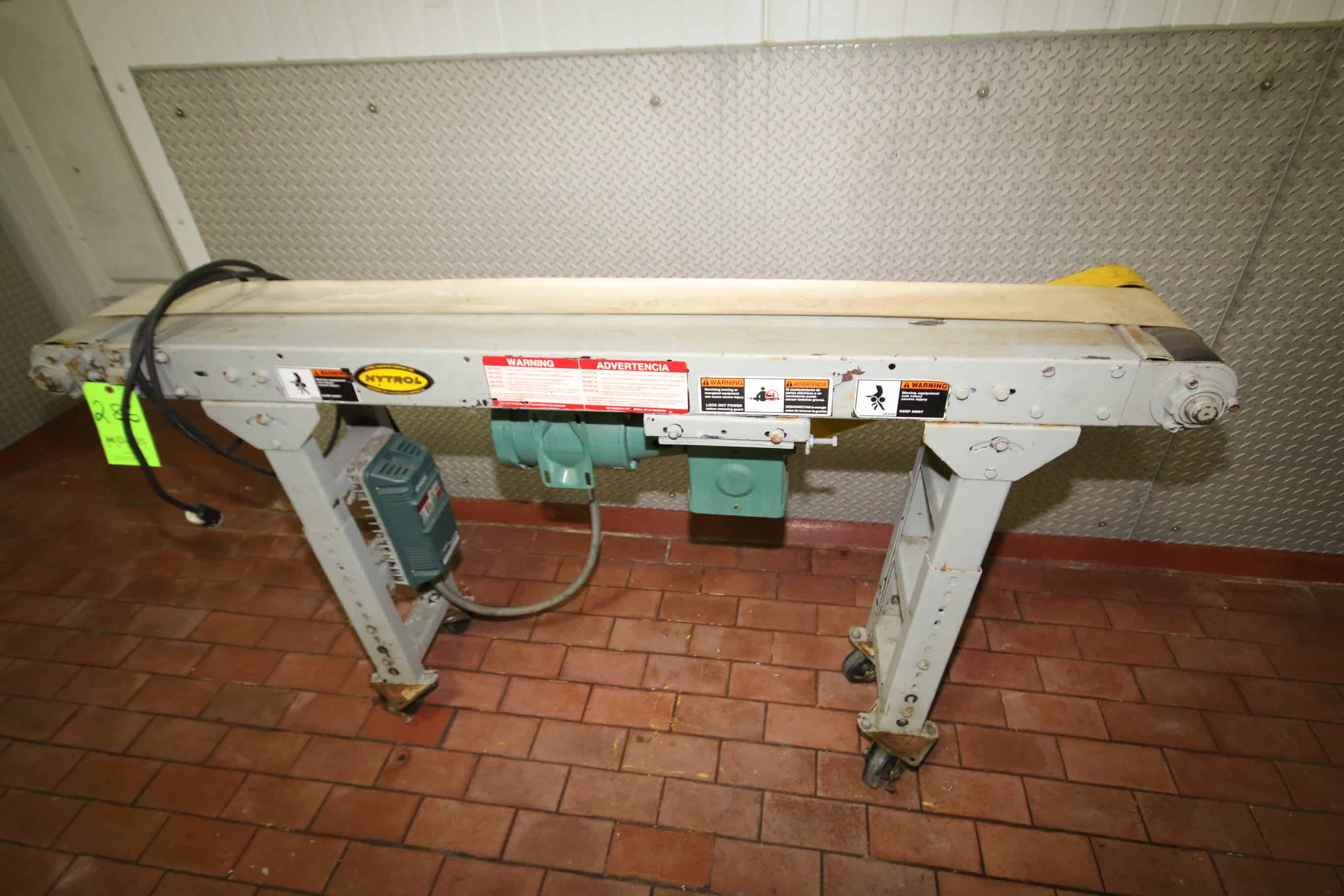 "Hytrol ~5 ft. 10"" L Portable Conveyor with 5-1/2"" W Belt, Drive and Reliance SP500 VFD"