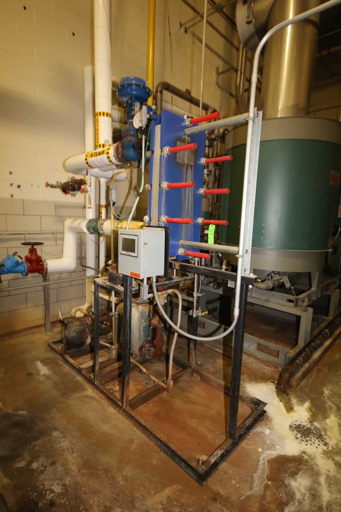 2011 Hot Water Circulation System with Alfa Laval Plate Frame -Tigerflow Skid Mounted Boiler Feed System with (3) Pumps, (3) ABB VFDs and Red Lion Touchscreen Controls