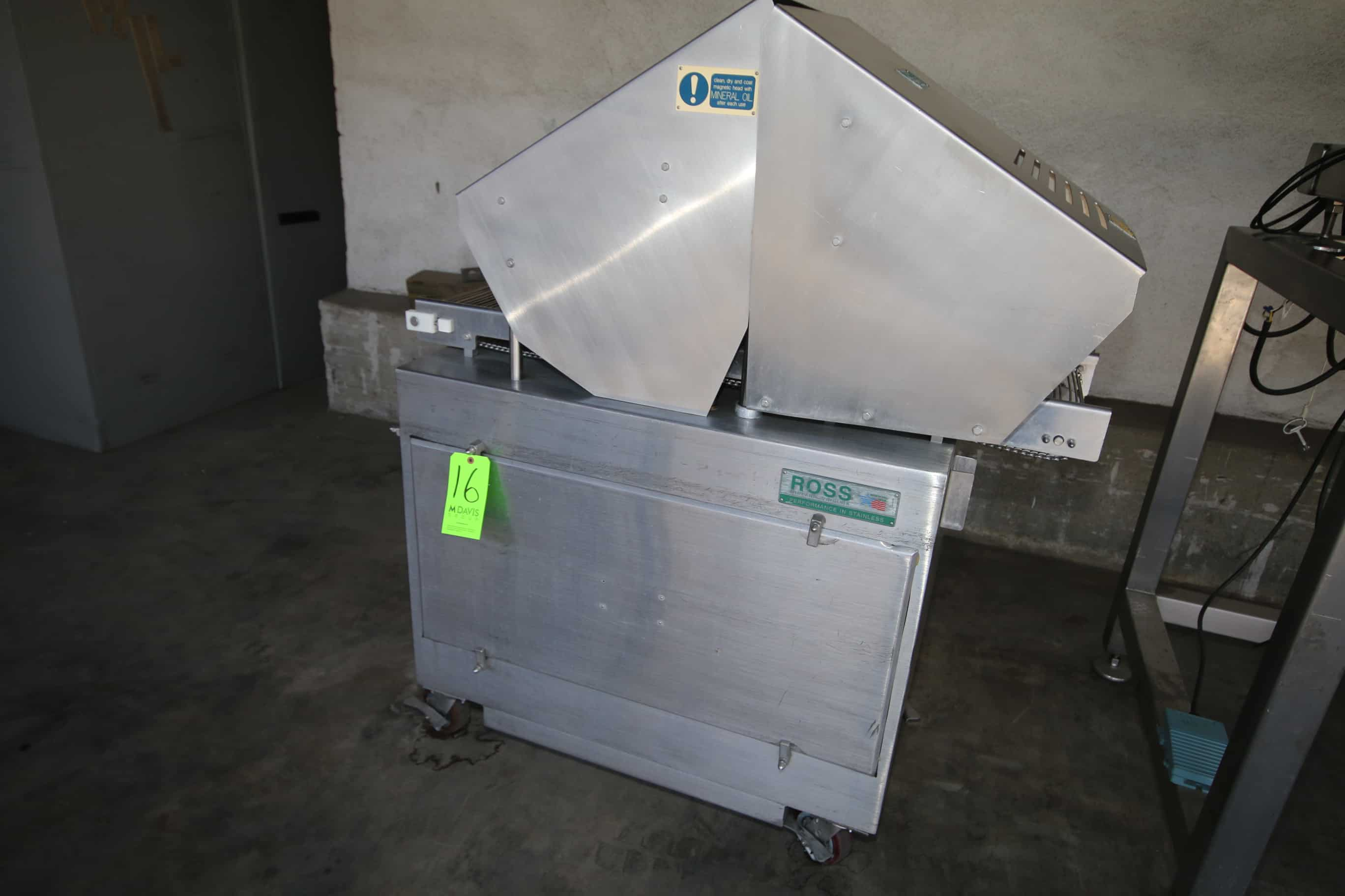 """Ross Tenderizer, with Aprox. 12"""" W Infeed/Outfeed S/S Conveyor, Tenderizing Station, Mounted on S/S Frame"""
