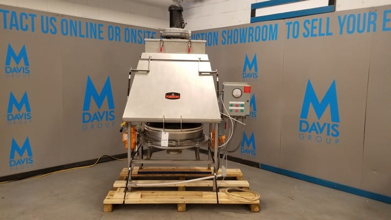 "2014 Kason 30"" Single Deck S/S Vibratory Screener/ Separator / Bag Dump Station, Model KBDS-30-SS,  Includes (2) Cartridge Top Mounted Dust Collector, Hinged Lid Bag Dump Deck Area, Sifter Screen, (2) Mounted Vibrators, S/S Frame, Control Cabinet with Schneider Controls & Magnehelic Gauge"