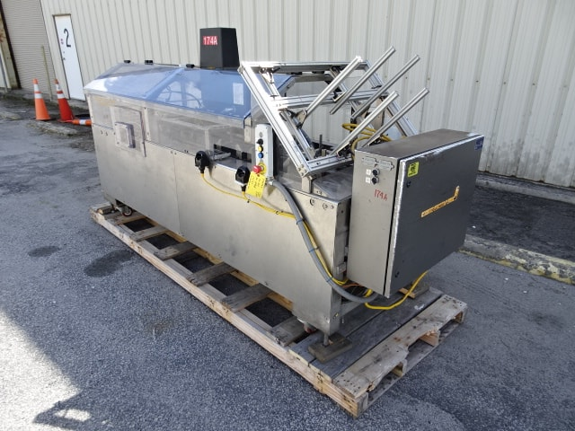 Econocorp Spartan Hand-load Cartoner, Model # 6921, S/N 6593, semi-automatic cartoner with Nordson glue system / designed to hand-load product / Allen-Bradley MicroLogix 1000 (Located in South Carolina)***NORTH***