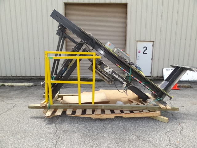 Orion Stretch Wrapper, Model # M-67-7, S/N 3053600, floor-mounted rotary arm pallet wrapper with fence guarding (Located in South Carolina)***NORTH***