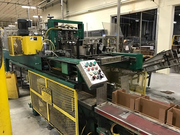 Simplimatic (SECO) Drop Packer, Model # n/a, S/N P2552, last used to drop large plastic bottles of juice into case in 2 x 3 pattern (Located in Pennsylvania)***NORTH***