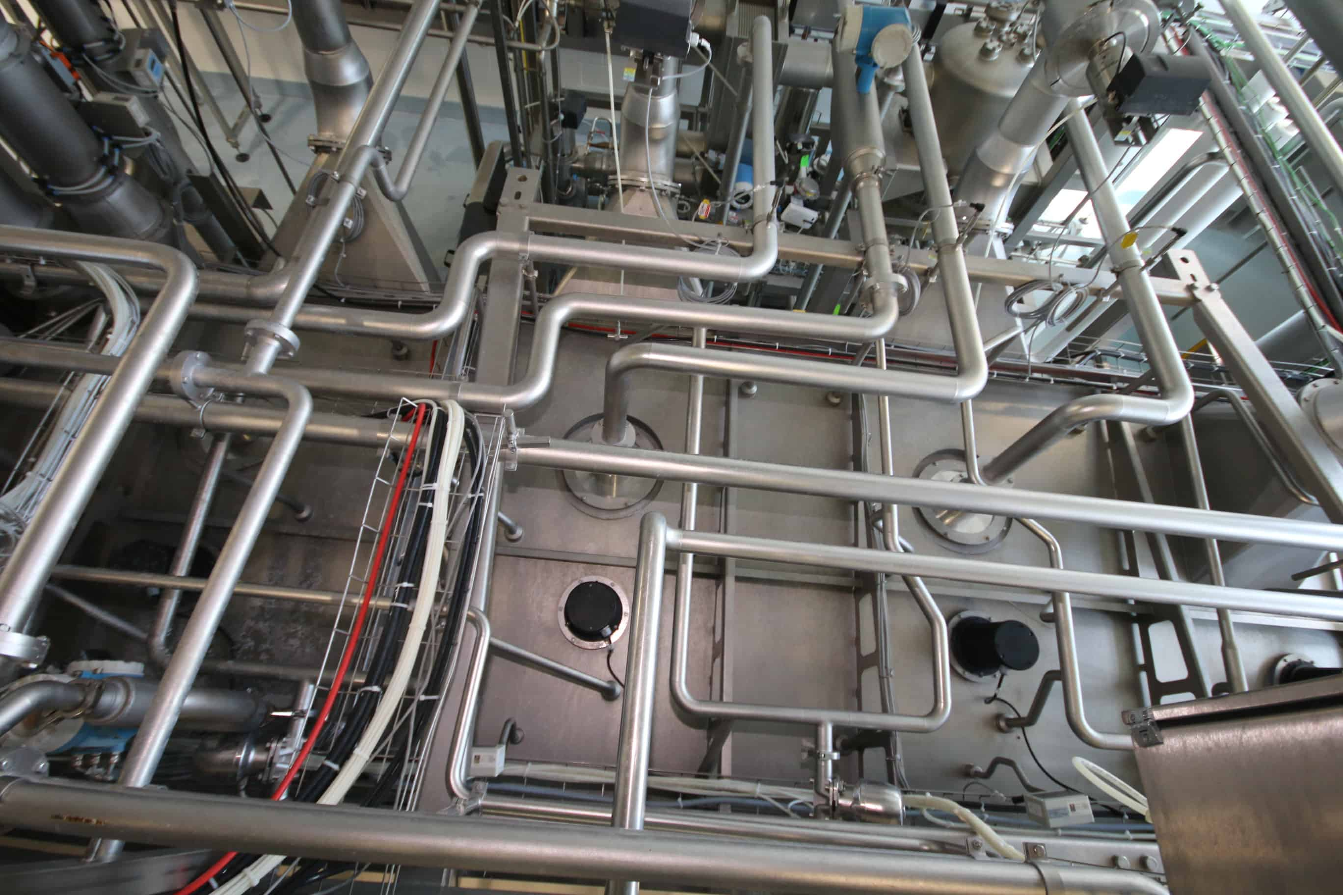 2009 Krones PET-Aseptic Filling System,Type:  PET-Asept D, S/N K567-006 K122-845,  with 10-Head Filling Station, 4-Head Foil Seal Station, and 4-Head Capping Station, with Valve/Pump Skid Including (2) Fristam 7-1/2 hp Centrifugal Pumps, M/N FPR742-145, with S/S Filters, S/S Air Valves, and S/S Piping, with Caverion (6) Compartment Filter System, Type:  3X1-H14/H14-200C, with S/S Computer/Controls Station, with (2) Spare Part Carts with Parts