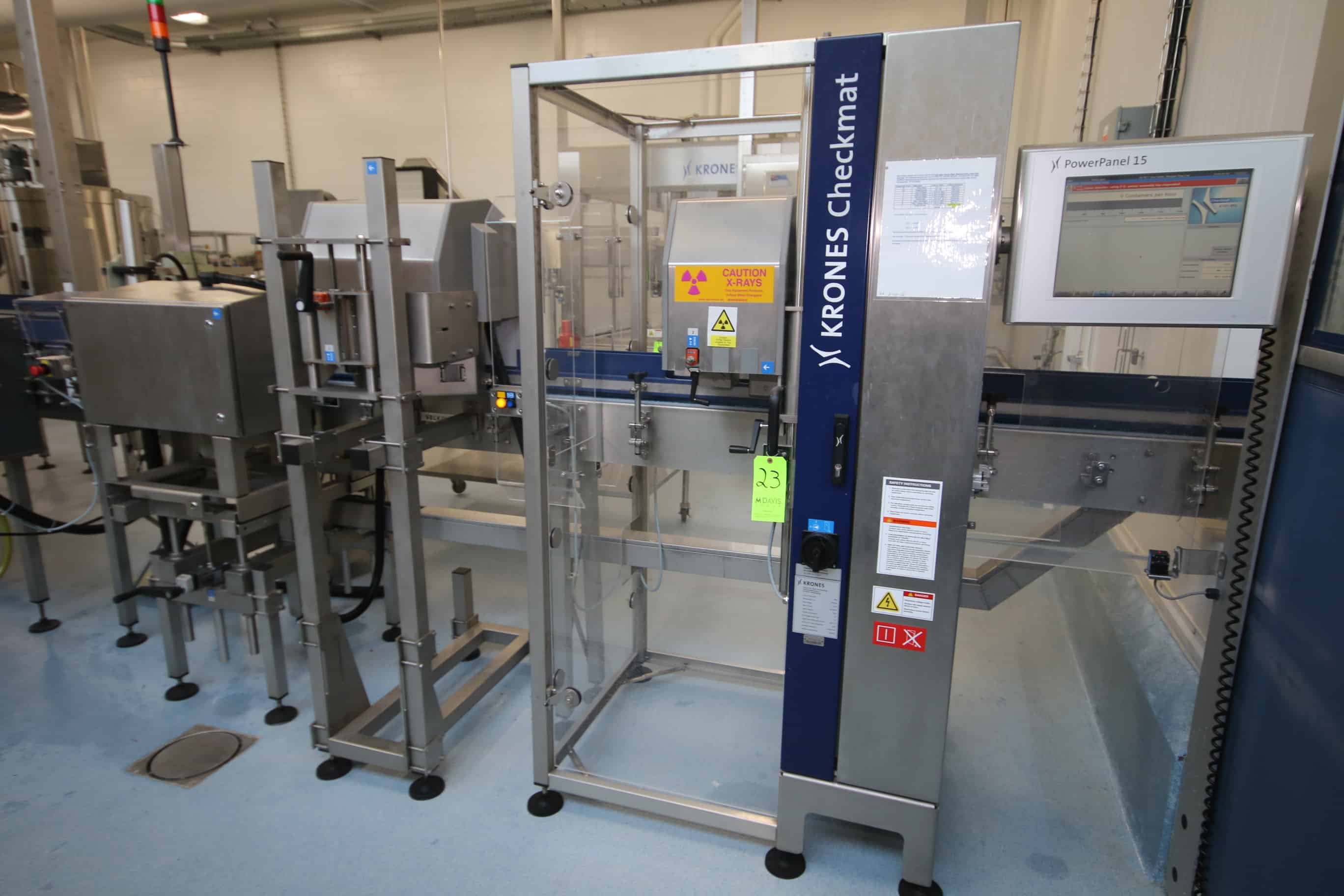 2009 Krones Checkmat Bottle Inspection Station, M/N 731 FM-X+L, S/N K731-953, with (2) Camera Stations, 230 Volts, with Power Panel 15 Touchscreen with Controls