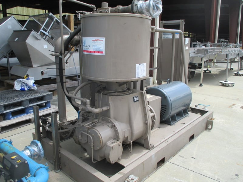 LeRoi Air Compressor Package - Includes Air Dryer & Water Cooling System, 100 PSI air compressor with water cooler,  300 Hp Motor and hankison compressor air dryer model, CLD1550, S/N H1657926001-1, Model: A 219-238 G16, Serial Number: 4222X141
