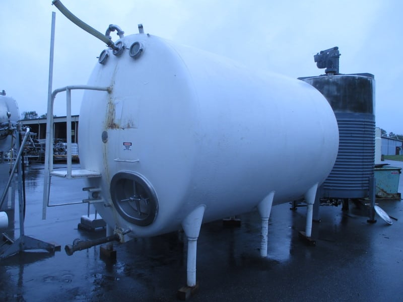 Chicago Stainless Equipment 3000 Gal. Horizontal Jacketed Tank