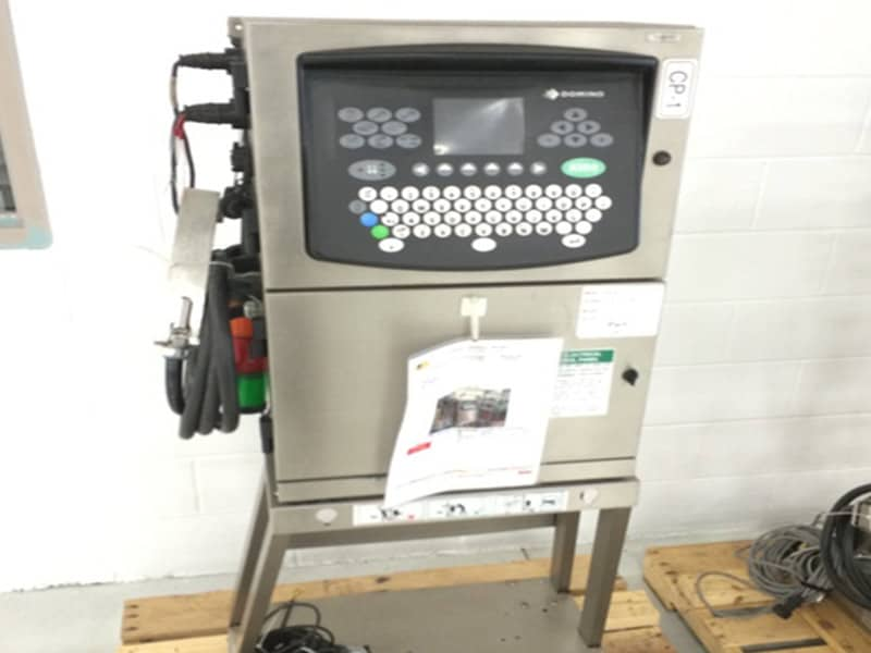 Domino A200 Ink Jet Coder, Stainless Steel Cabinet, Membrane Touch Pane, Includes Stand, Self-Cleaning Ink System, Flexible Applications Up to 4 lines in a variety of print formats, Model: A200, Serial Number: N/A