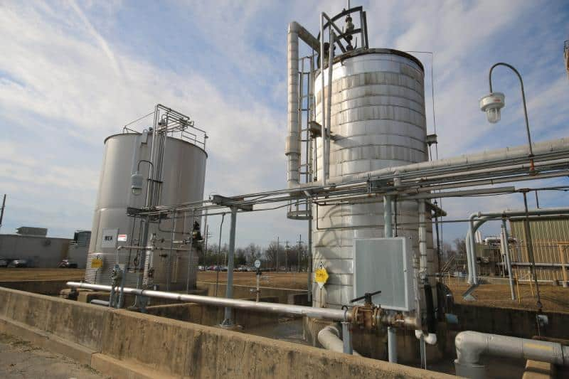 Photopolymers Tank Farm with Feldmeier 12,000 gal & Schmidt 6,500 gal SS Tanks