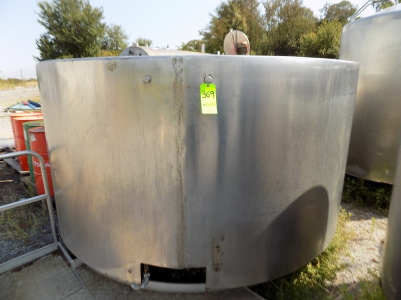 MKT Aprox. 6000 L/1585 Gal. S/S Cheese Tank with Cheese Cutters