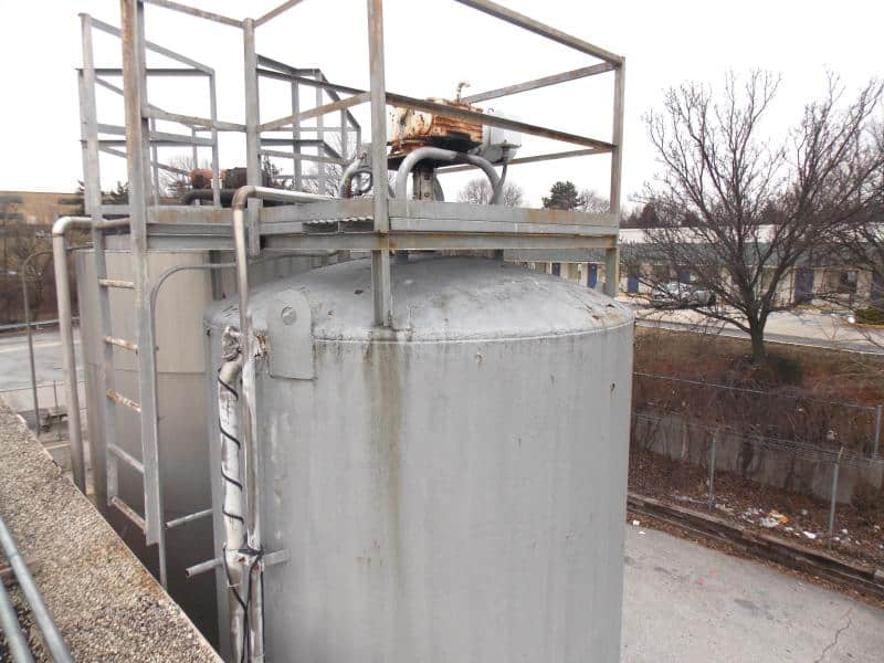 Dairy Craft 6,000 Gallon Stainless Vertical Silo