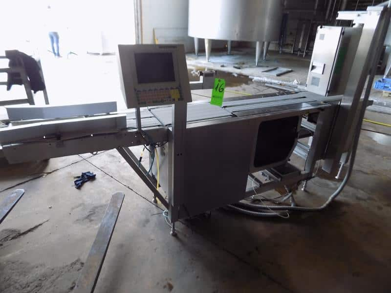 "Bizerba Top and Bottom Label Applicator, No. 2091898 with Control Panel (Overall Dimensions 292cm L x 23cm W / 114"" L x 9"" W)"