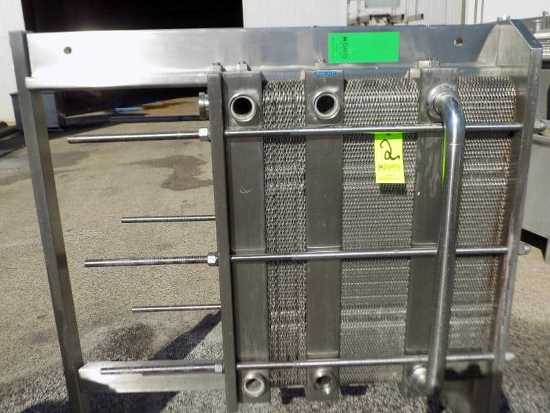 Reda S/S Plate Heat Exchanger with (3) Dividers and 3-Sections - (114) S/S Plates