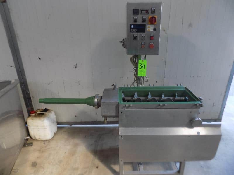 Dima Twin Screw Mozzarella and Soft Cheese S/S Auger with Outlet Nozzle, Control Panel including (2) Starters and Relays, Temperature Indicator and Heat Controller
