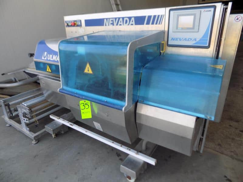 2004 Ulma Nevada LS Horizontal Flow Wrapper, S/N 1600022 with Reels for Film, Control Panel VT565W and Touchpad Screen, 2 - 4 kw