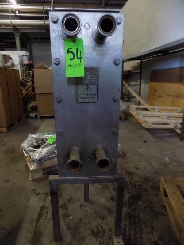 Alfa Laval S/S Plate Heat Exchanger, Type P2 THL1, Volume 8.9, Max Bar 10