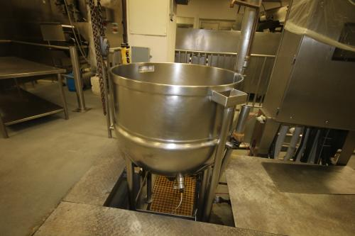 "J.C. Pardo and Sons 100 Gal. S/S Kettle, S/N 8101-2, 100 PSI @ 338 Degrees, and 100 PSI @ -20 degrees, Overall Dims.: Aprox. 88"" H x 53"" W"