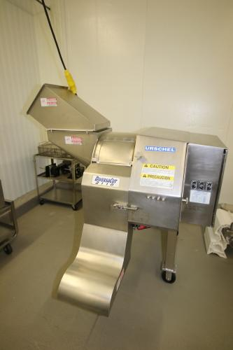 Urschel DiversaCut 2110, M/N DC, S/N 174, with S/S Clade Motor, Mounted on S/S Portable Frame