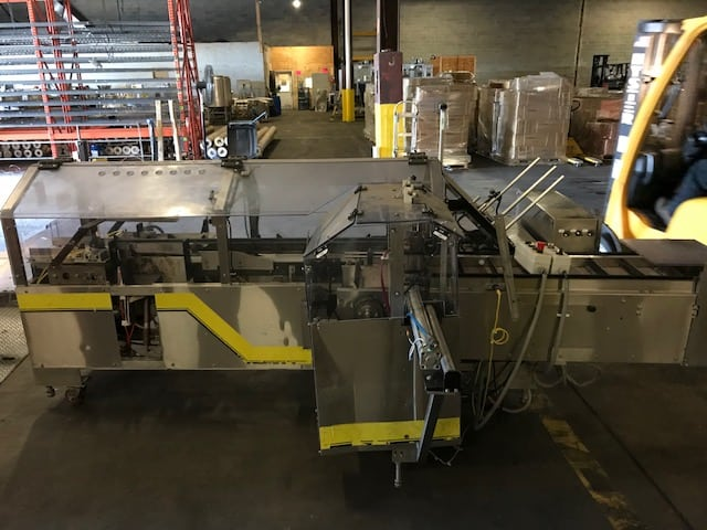 2012 Econoseal Spartan S/S Cartoner, Includes (4) Standard #40 Chains, 5' Collating Infeed Conveyor, Left Hand Machine (Located in Newark, NJ)***BFEM***