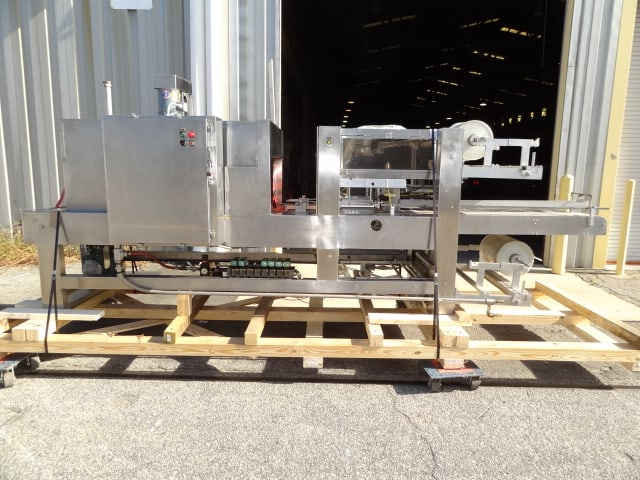Arpac Shrink Bundler, Model # 1058-24, S/N 1396, stainless steel / last running round cartons of ice cream in clear film(Located in South Carolina) ***NSP***