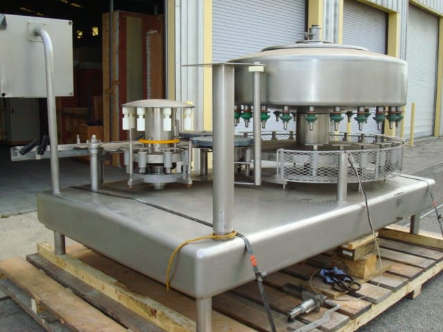 "Filler Specialties Filler, Model # GWFS248R, S/N 18695, 24-valve filler / 8-head capper / 7-7/8"" pitch(Located in South Carolina) ***NSP***"