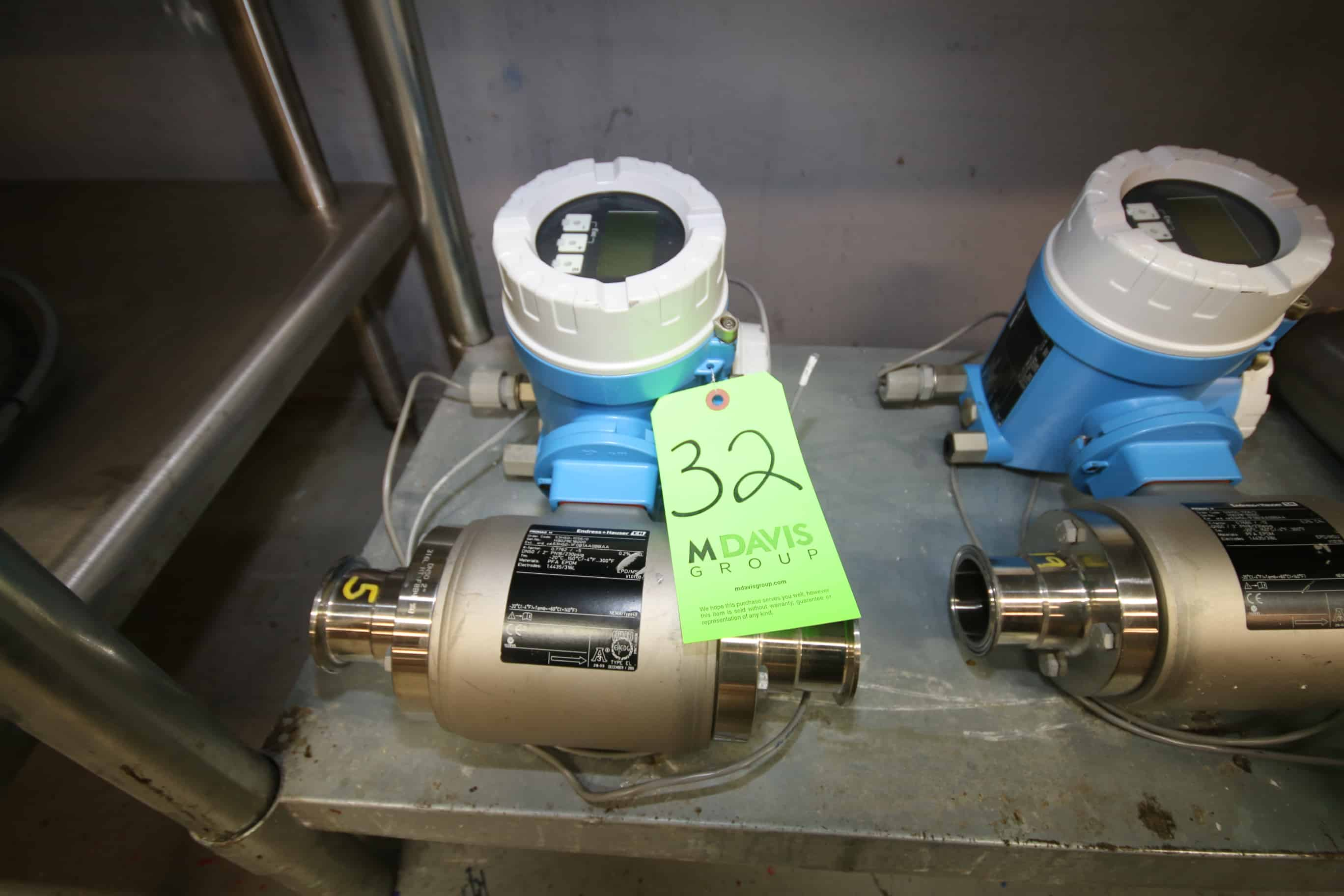 "Endress + Hauser 2"" Clamp Type Digital Flow Meter with Body, Model ProMag H, S/N H9029E1600 and Controller, Model 53 Read-Out, S/N H9029E1600"