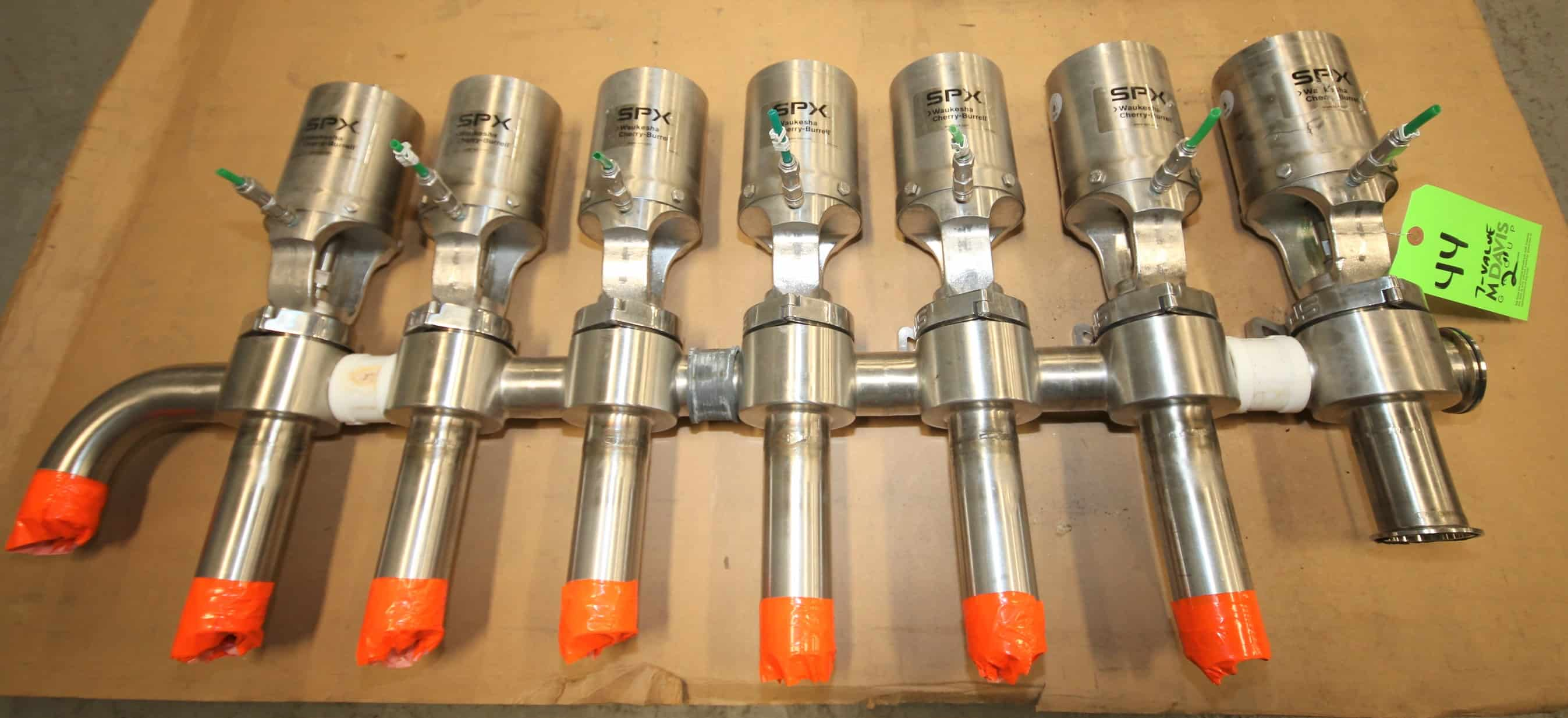 "Valve SPX WCB 2"" S/S Air Valve Manifold / Cluster with P/N W6100019 Valves"