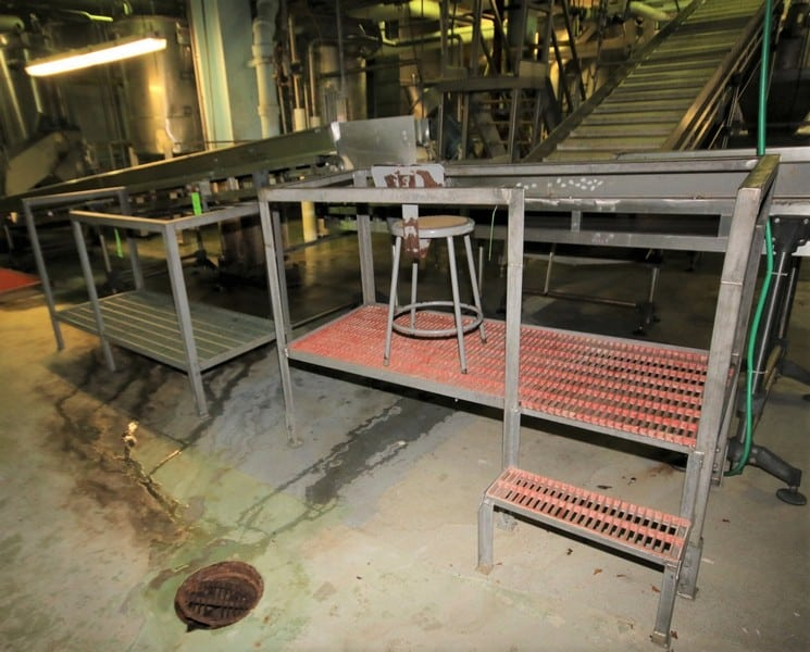 "(3) pcs. - S/S Operators Platforms, Includes (2) ~6 ft. L x 30"" W x 22"" & 12"" H, ~8 ft. L x 36"" W x 5"" H, All with Plastic Grates"