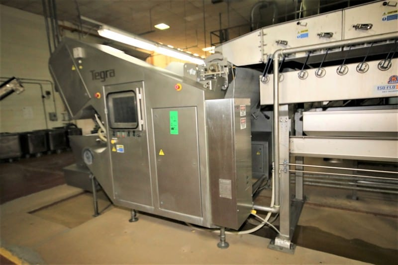 "2008 Key Tegra 60"" In-Air Digital Color Sorter, Model 7775-604219-1, SN 08-199029 with (4) Cameras, PLC Controls with Touchpad Display, 480V 3 Phase"