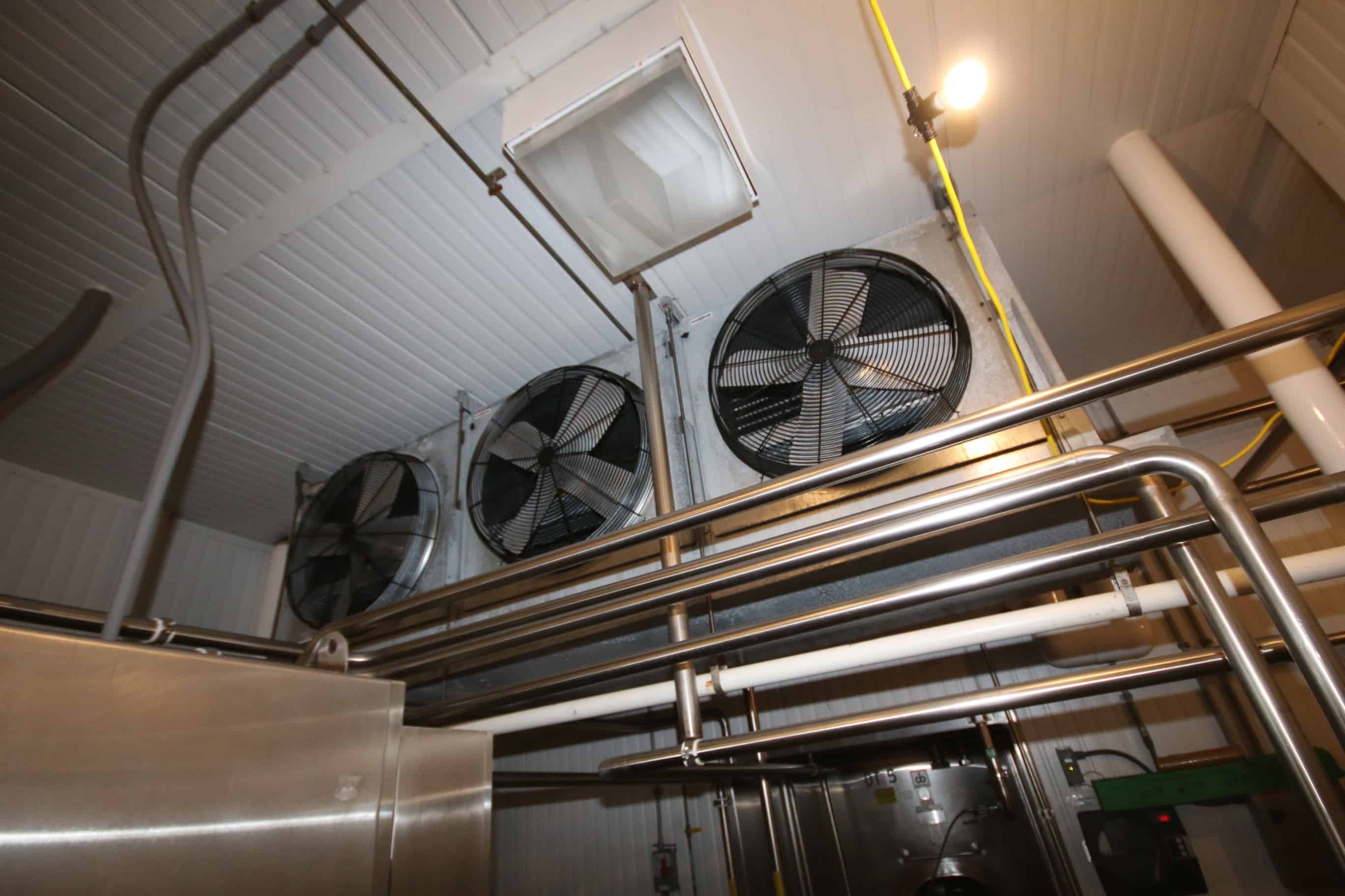 (20) Krack 6, 5 & 4 Fan Ammonia Evaporator / Blowers Installed Throughout Facility, Most New in 2010, Several S/S Clad Low Profile Type & Standard Type