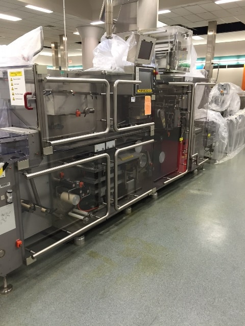 "Bosch Blister Machine, Model TLT 1400 S, S/N 807299 MS 800502 W.  Manufactured in 2005. Unit can Produce Speeds up to 300 blisters per minute Blister width from 30 to 90 MM Blister length from 60 to 145 MM Maximum depth of draw: 12 mm Currently running a 3-inch x 2.5-inch blister.  Running PVC blister with Alu lidding Unit has Blister Product Feeder (Linear Feeder with Vibratory Control) Hapa 230 Printer Scanware Color Product inspection System Maxpro Technologies vacuum air booster (increases mechanically the plant air pressure from 90 psi to 160 psi) For increased forming pressure. all stainless-steel enclosure and stainless-steel lines (GMP Design) 6' Long discharge conveyor 6"" Wide belt – Servo Controlled Outfeed Belt – Designed for 2up outfeed with Reject Station Neslab HX 150 recirculating temperature controller Aftermarket Guarding and Handles – GMP Design and eliminated all Glass doors on the machine, Operating manuals included. Lot Sold FOB (Located in NY)(***GPIEC***)"