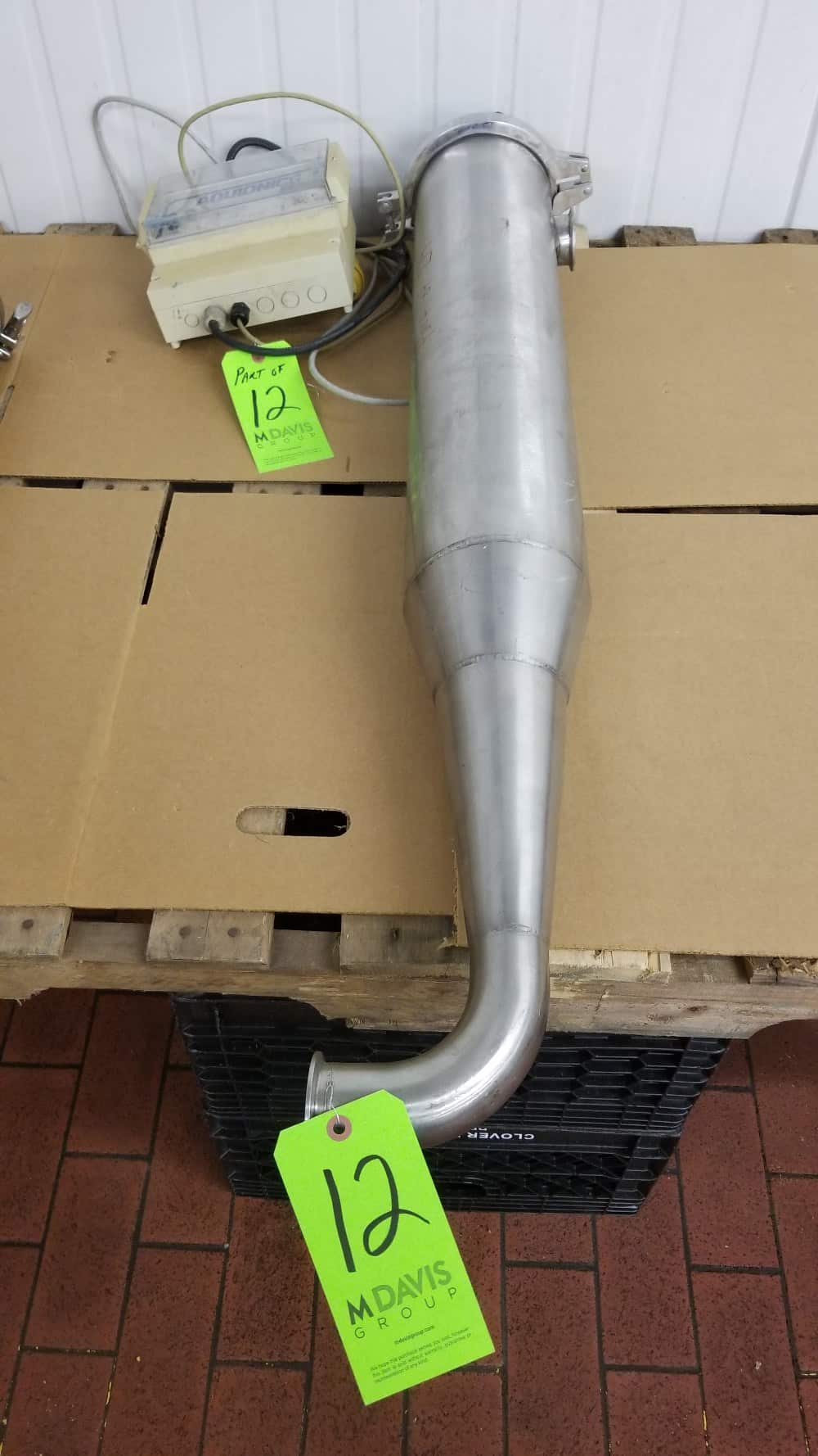 "~36"" L S/S Inline UV Filter, 5-1/2"" W with Aquionics Inc. Controller and 2"" Clamp Type Inlet/Outlet"