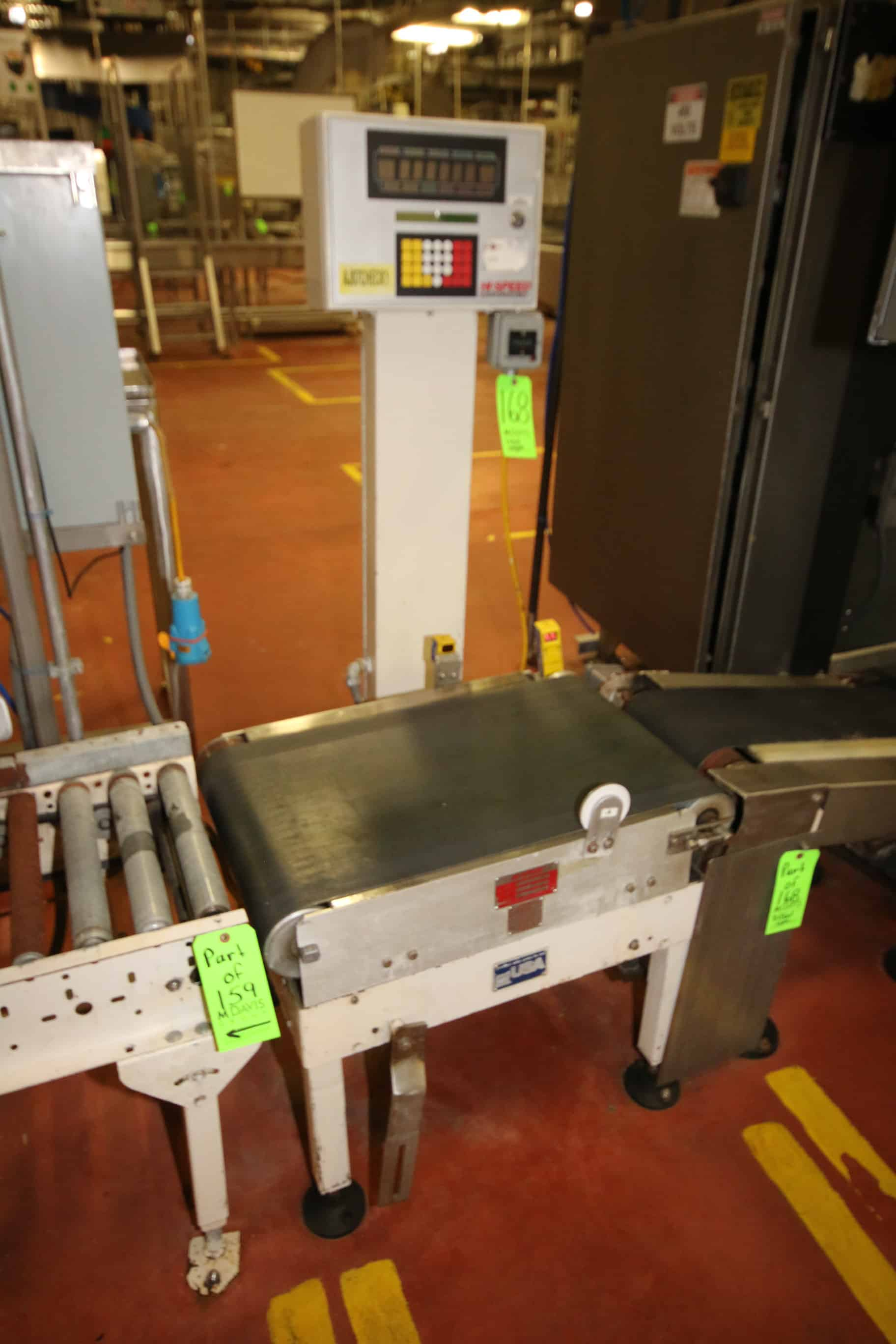 "MicroMate Hi-Speed Checkweigher, Model CS80MM-C-S, S/N 10898 with 18"" W Belt x 28"" L Conveyor including Infeed Power Conveyor with 9"" W Belt"